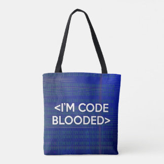 Tote Bag Je suis le CODE BLOODED