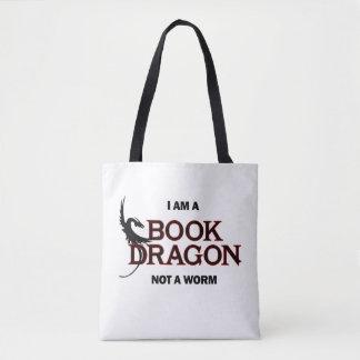 Tote Bag Je suis un dragon de livre, pas un ver