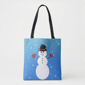 Tote Bag Je t'aime plus de bonhomme de neige
