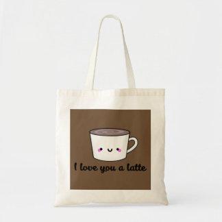 Tote Bag Je t'aime un Latte