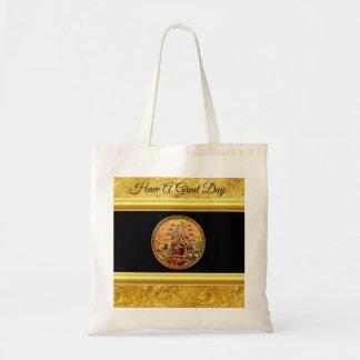 Tote Bag Jésus à la feuille d'or de la porte du ciel et à