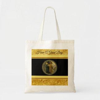 Tote Bag Jésus à votre porte dans la feuille d'or et le