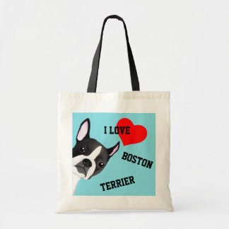 Tote Bag Jeter un coup d'oeil Boston Terrier a illustré le