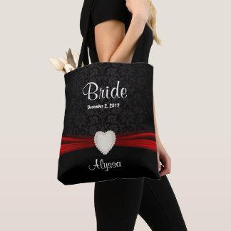 Tote Bag Jeune mariée noire et rouge de jeune mariée -