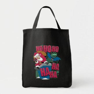 Tote Bag Joker le père noël de Batman | montant la cheminée