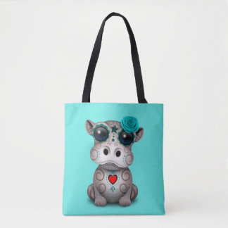 Tote Bag Jour bleu de l'hippopotame mort de bébé
