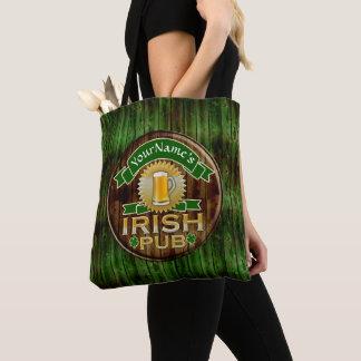 Tote Bag Jour de la Saint Patrick irlandais de signe de Pub