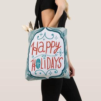 Tote Bag Joyeuses vacances de Christmastime