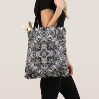 Tote Bag Kaléidoscope gris