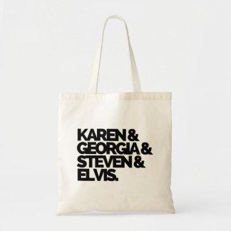 Tote Bag Karen et la Géorgie et Steven et Elvis Fourre-tout