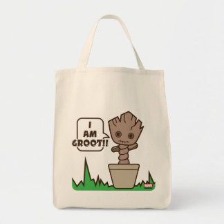 Tote Bag Kawaii Groot mis en pot