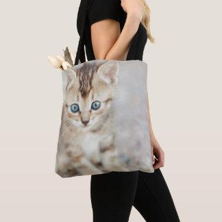Tote Bag Kitty observé par bleu