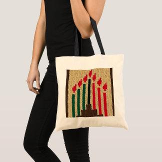 Tote Bag Kwanzaa mire le crochet vert noir rouge de Brown