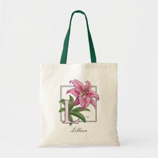 Tote Bag L pour le monogramme de fleur de lis