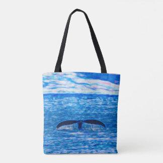 Tote Bag La baleine diminuent la côte de Maui, Hawaï