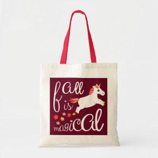 Tote Bag La chute est licorne marron magique Fourre-tout