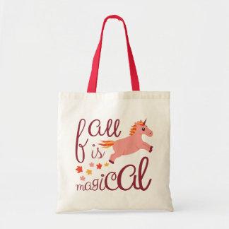 Tote Bag La chute est licorne rose magique Fourre-tout de
