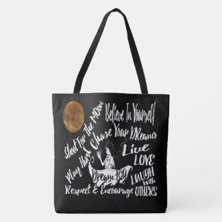 Tote Bag La citation de motivation inspirée tient le
