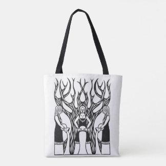 Tote Bag La conception noire et blanche de papercut de