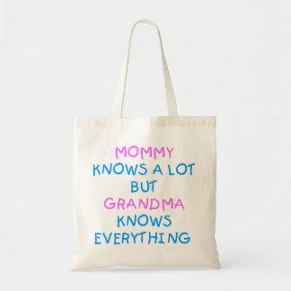 Tote Bag La grand-maman sait tout cadeau du jour de mère de