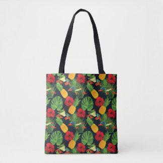 Tote Bag La grenouille d'arbre observée par rouge tropical