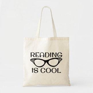 Tote Bag La lecture est cartable frais avec des verres de