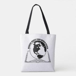 Tote Bag La lecture fait à votre monde un plus grands noir