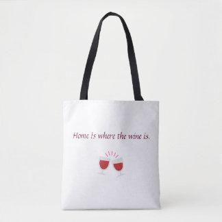 Tote Bag La maison est où le vin est