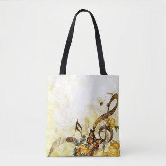 Tote Bag La musique de papillon note tous plus de -