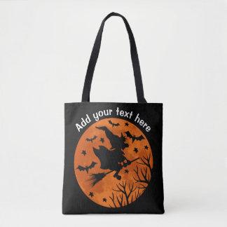 Tote Bag La pleine lune et la sorcière dépouillant sur un