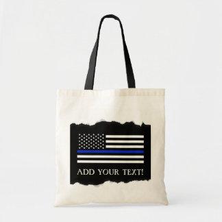 Tote Bag La police dénomme la coutume de drapeau américain