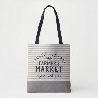 Tote Bag La toile grise barre le marché Fourre-tout de