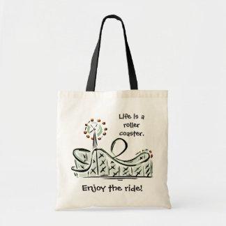 Tote Bag La vie est des montagnes russes. Appréciez le tour