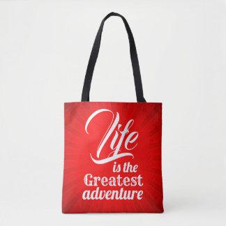 Tote Bag La vie est la plus grande aventure
