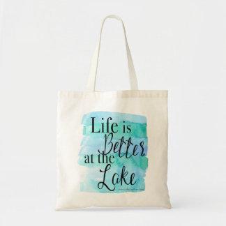 Tote Bag La vie est meilleure au lac