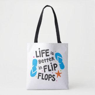 Tote Bag La vie est meilleure dans des bascules