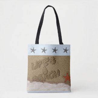 Tote Bag La vie est une plage Fourre-tout