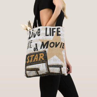 Tote Bag La vie vivante aiment une star de cinéma
