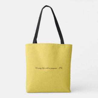 Tote Bag La vie vivante avec un but