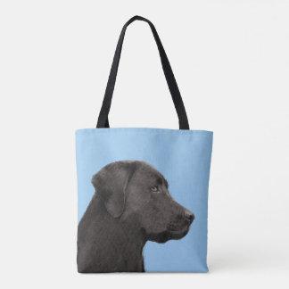 Tote Bag Labrador retriever (noir)