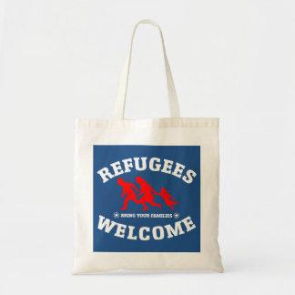 Tote Bag L'accueil de réfugiés amènent vos familles