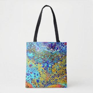 Tote Bag L'acrylique de sifflement de turquoise versent