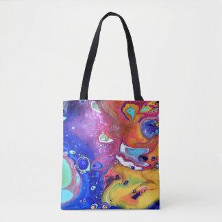 Tote Bag L'acrylique sauvage et fol versent partout
