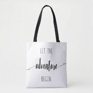 Tote Bag Laissez l'aventure commencer la citation