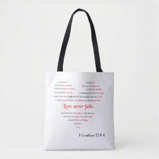 Tote Bag L'amour n'échoue jamais