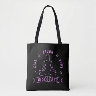 Tote Bag L'amour vivant de rire méditent texte femelle (le