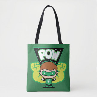 Tote Bag Lanterne verte de Chibi formant les poings géants