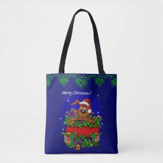 Tote Bag Lapin de Noël