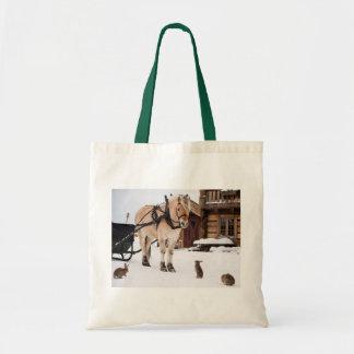 Tote Bag Lapins de cheval d'idylle de ferme de pays dans la