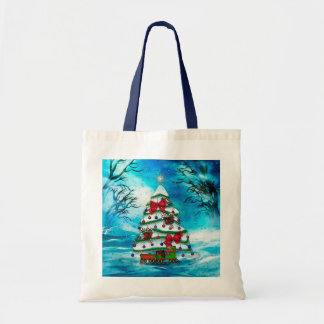 Tote Bag L'art populaire de Noël d'arbre